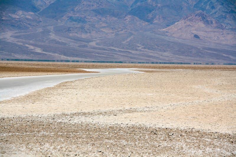 Härligt landskap av den Badwater handfatet, Death Valley fotografering för bildbyråer
