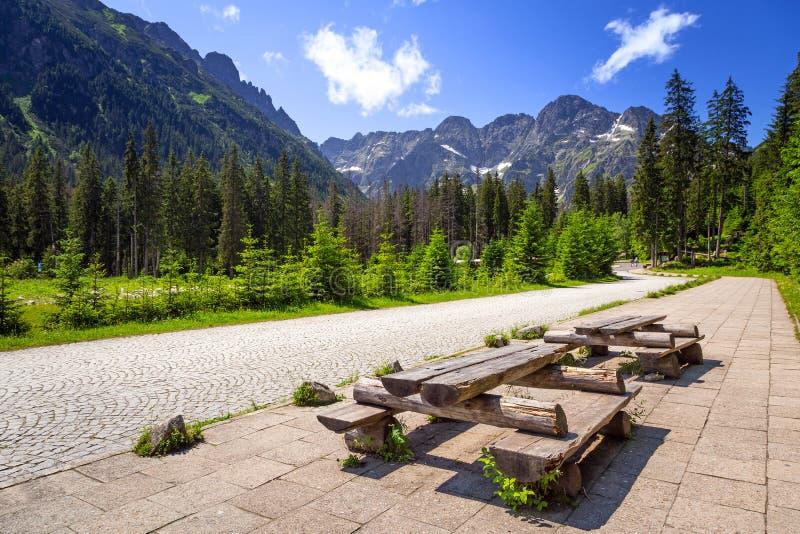 Härligt landskap av det Tatra berget arkivbild