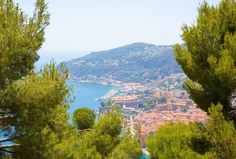 Härligt landskap av `en Azur för skjul D royaltyfri fotografi