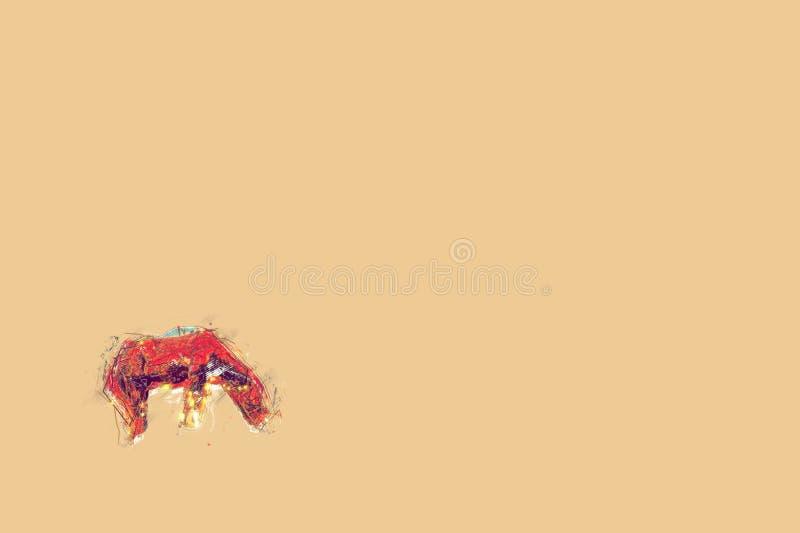 Härligt landskap av nordliga Vietnam stock illustrationer
