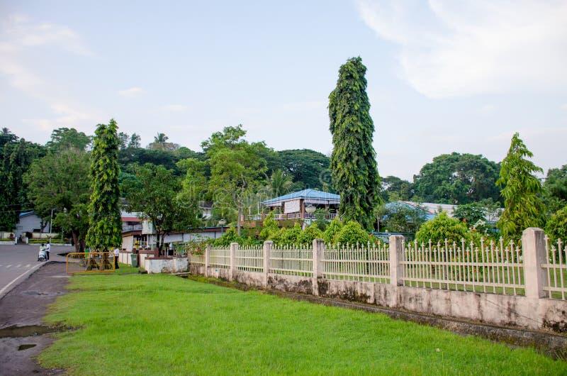 Härligt landskap av tropiska växter av det Andaman havet som Port Blair India royaltyfria foton
