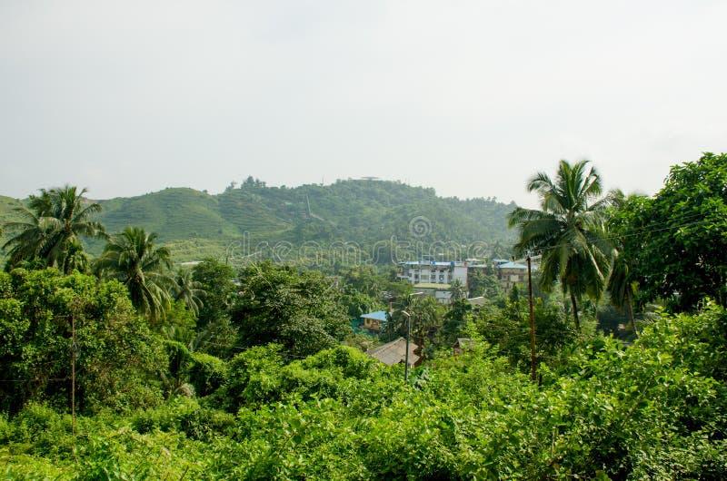 Härligt landskap den Andamansky ön som Port Blair India royaltyfri bild