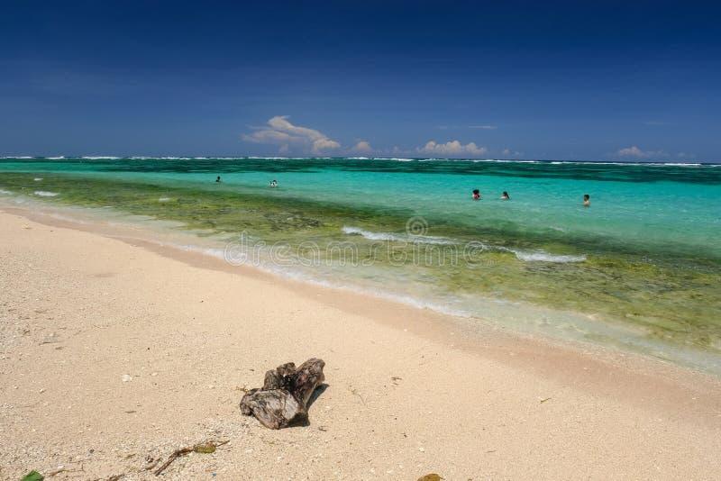 härligt landskap för strand arkivfoto
