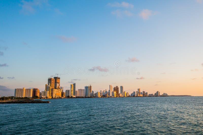 Härligt landskap i Cartagena, Colombia arkivbild