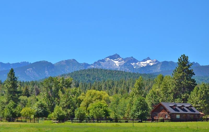 Härligt landskap i Montana royaltyfria bilder