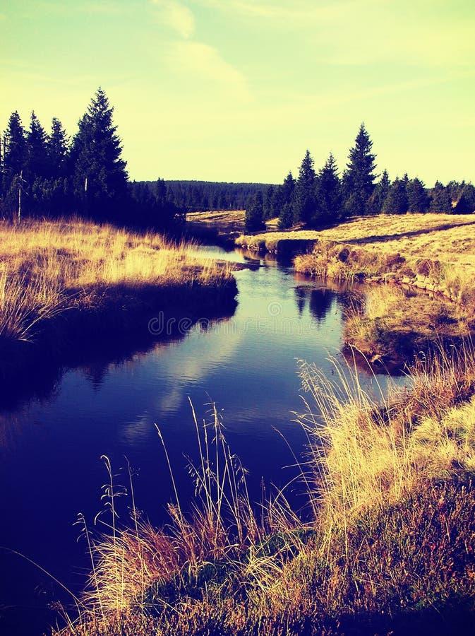 Härligt landskap i Tjeckien royaltyfria bilder