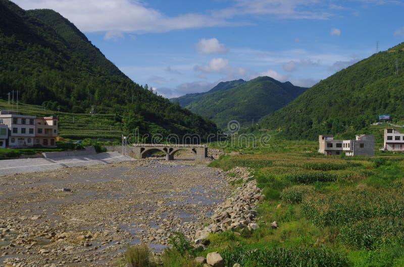 Härligt landskap i västra Kina arkivfoton