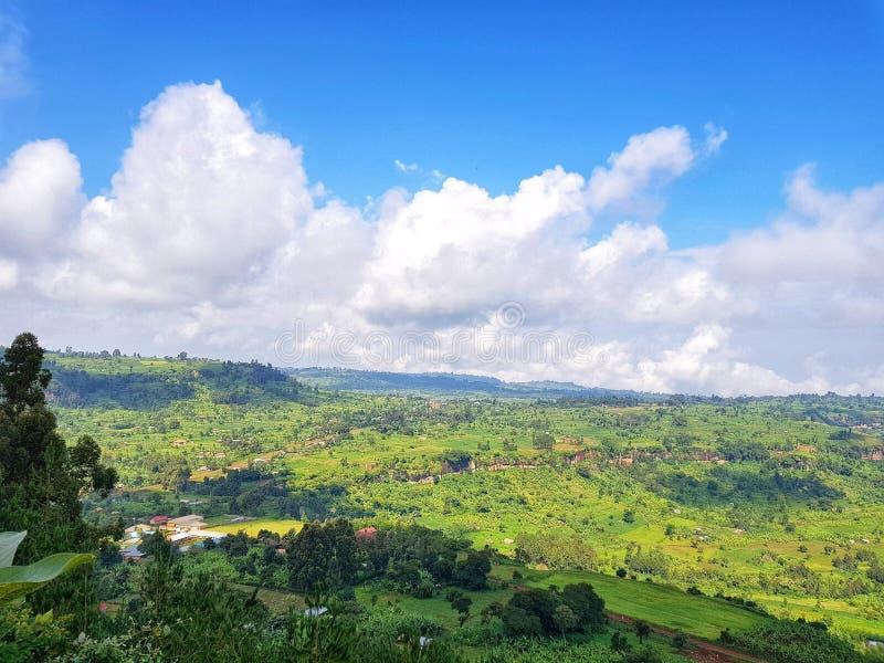 Härligt landskap, Kapchorwa Uganda royaltyfria bilder