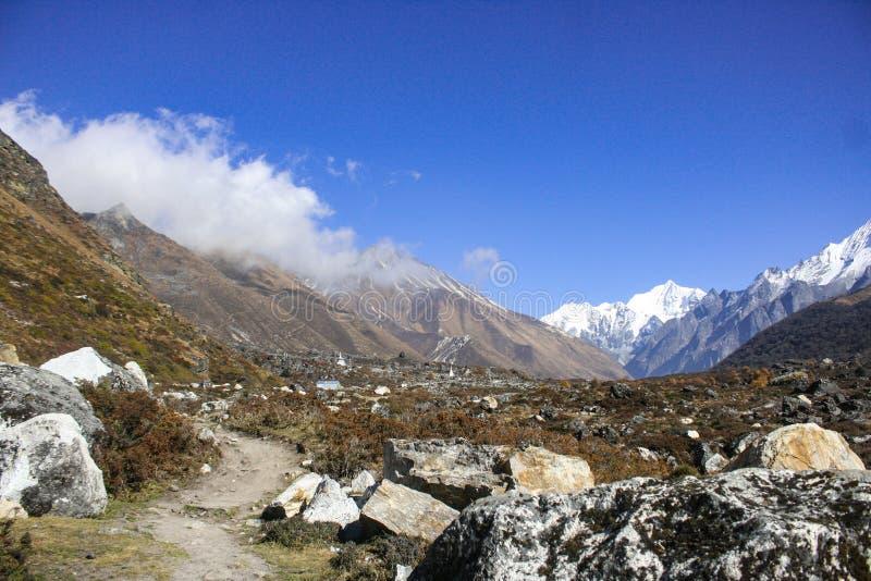 Härligt landskap med monteringen Gangchepo royaltyfri foto