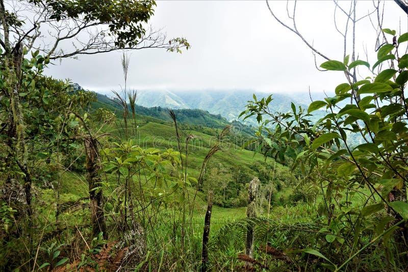 Härligt landskap nära San Isidro de El General royaltyfri bild