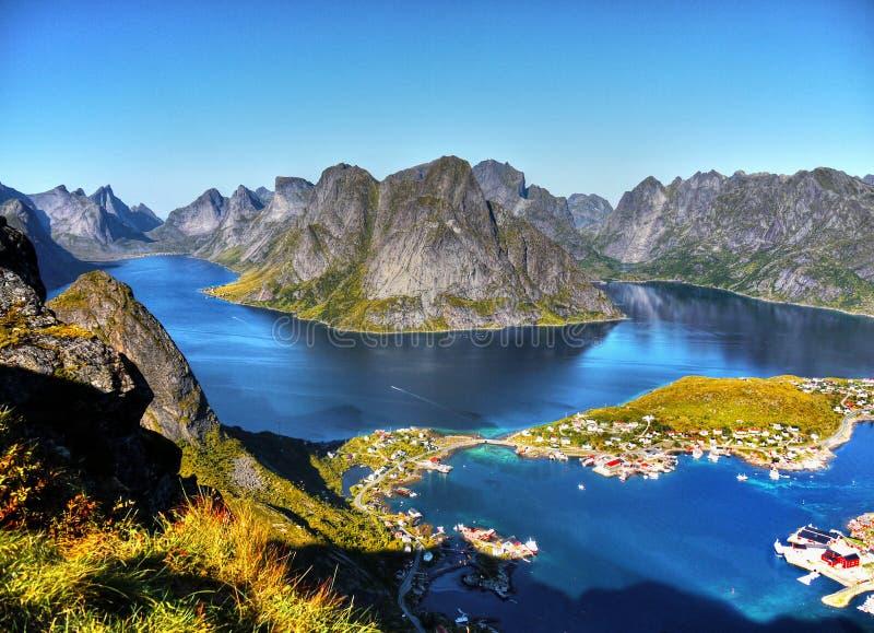 Härligt landskap, Reine, Lofoten fotografering för bildbyråer