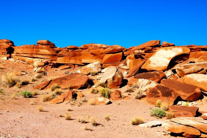 Härligt landskap Stora ljusa orange stenar scenisk sikt Utah Förenta staterna royaltyfria foton