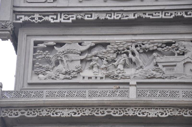 Härligt landskapfotografi utsökt sten för carvings royaltyfri bild