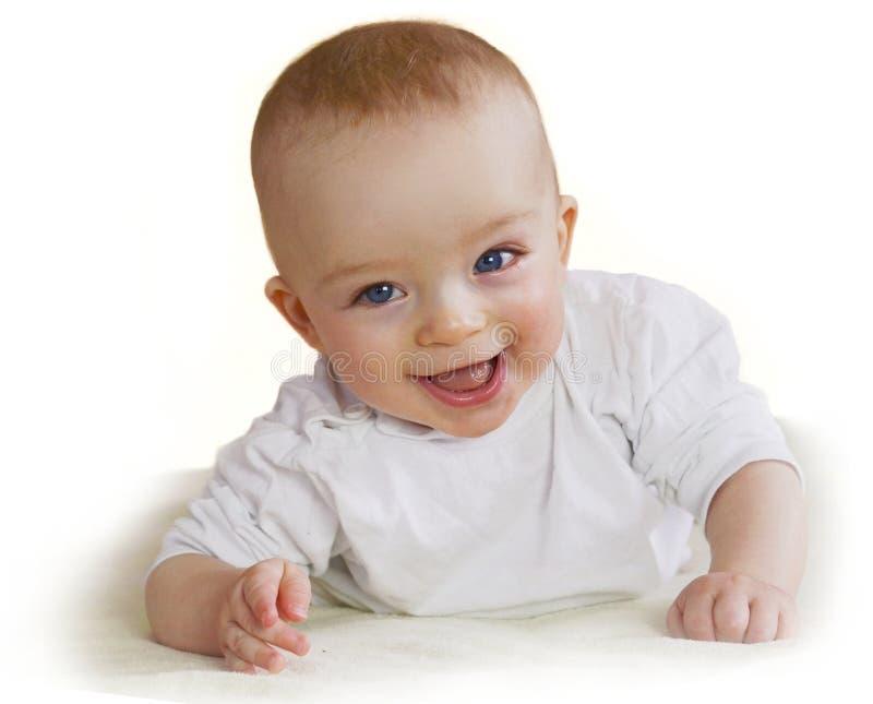 Härligt lyckligt behandla som ett barn att peka på dig Barnbegrepp royaltyfria bilder