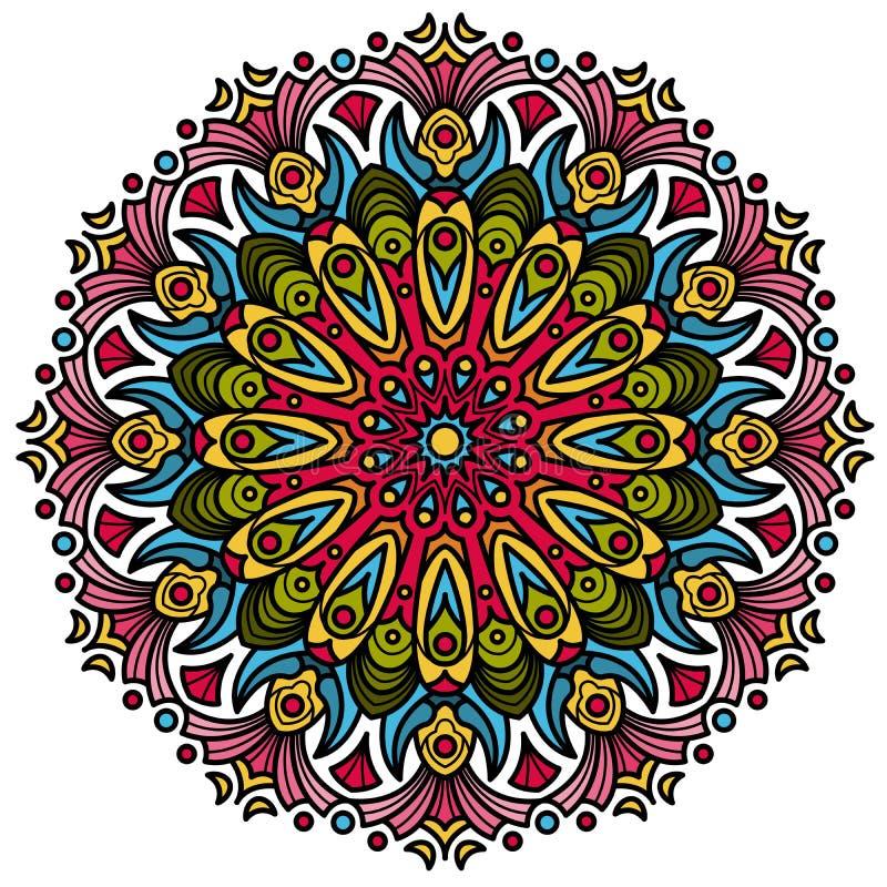 Härligt Mandala Hindu symbol vektor illustrationer