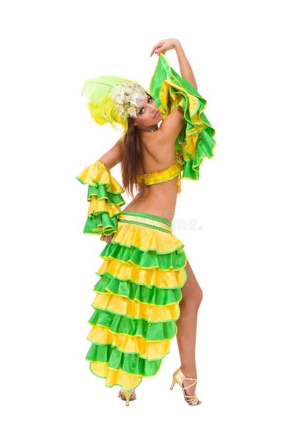 härligt posera för karnevaldansare royaltyfri foto