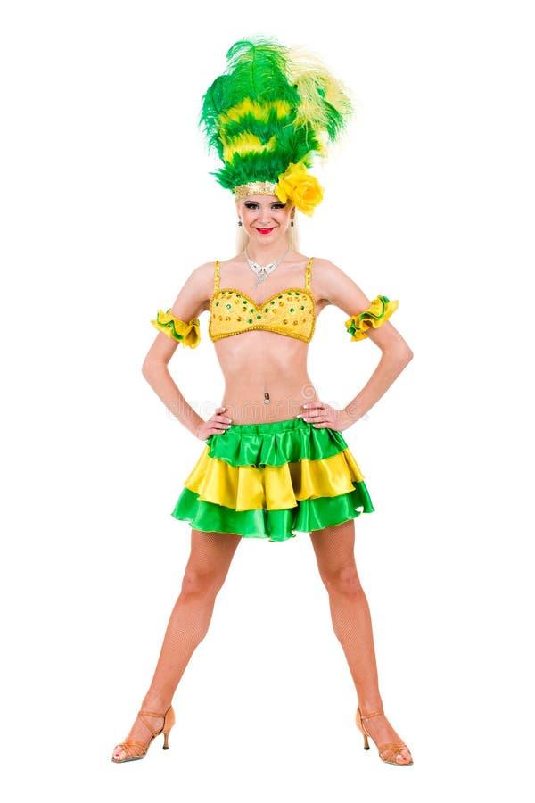 Härligt posera för karnevaldansarekvinna royaltyfri fotografi