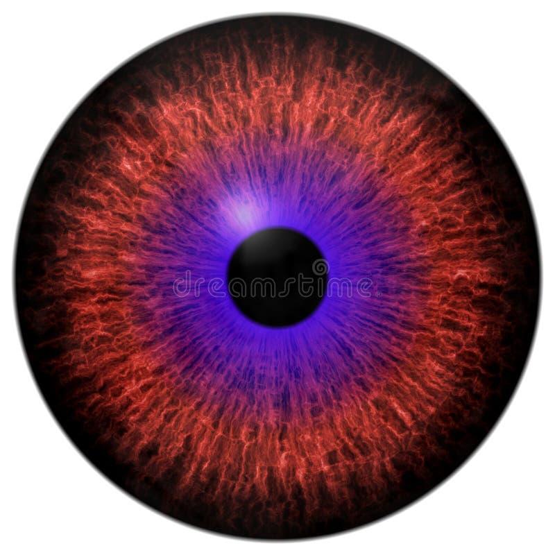 Härligt rött öga och rund 3d halloween ögonglob för lilor vektor illustrationer