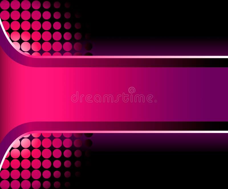 härligt rosa band 3d stock illustrationer