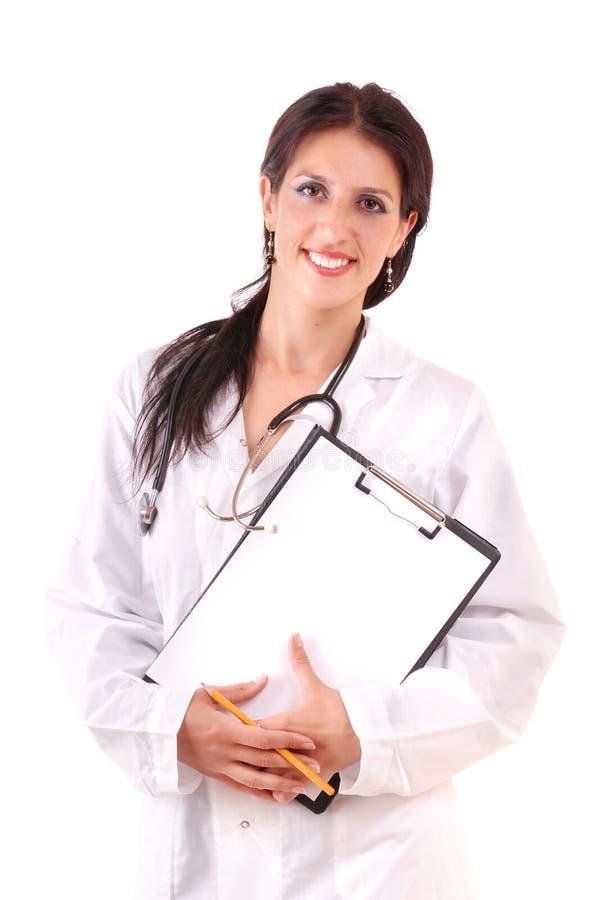 härligt sjuksköterskaleende royaltyfri fotografi