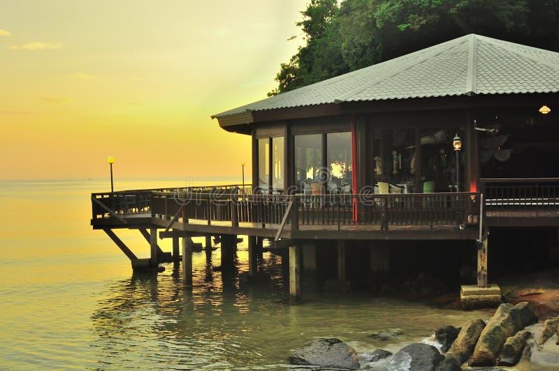 Härligt solnedgånglandskap Langkawi royaltyfria bilder