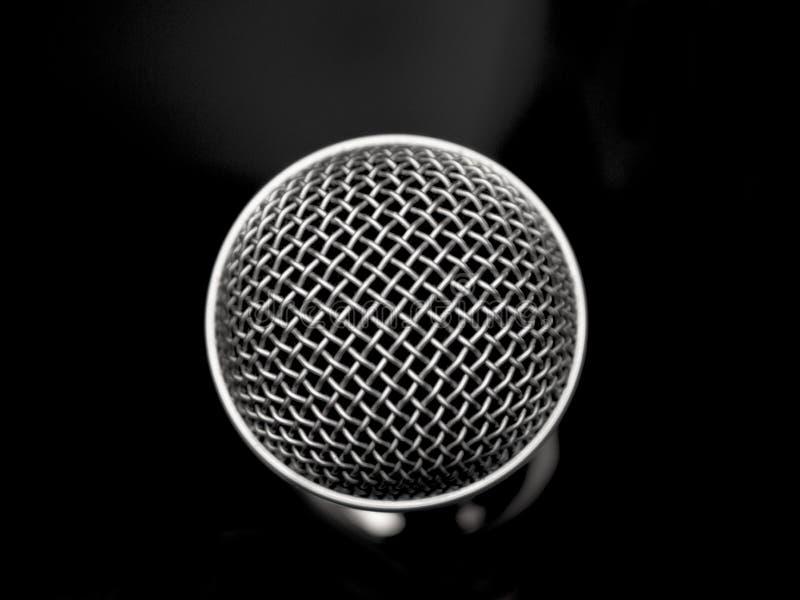 Härligt svartvitt mikrofonslut upp royaltyfria foton