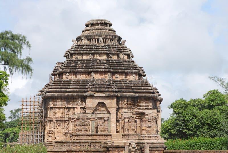 härligt tempel för sun för india konarakorissa royaltyfri foto