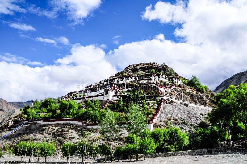 Härligt Tibet landskap i porslin royaltyfri fotografi