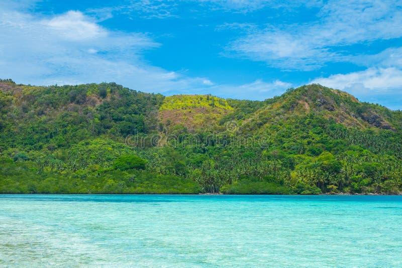 Härligt tropiskt landskap royaltyfria foton