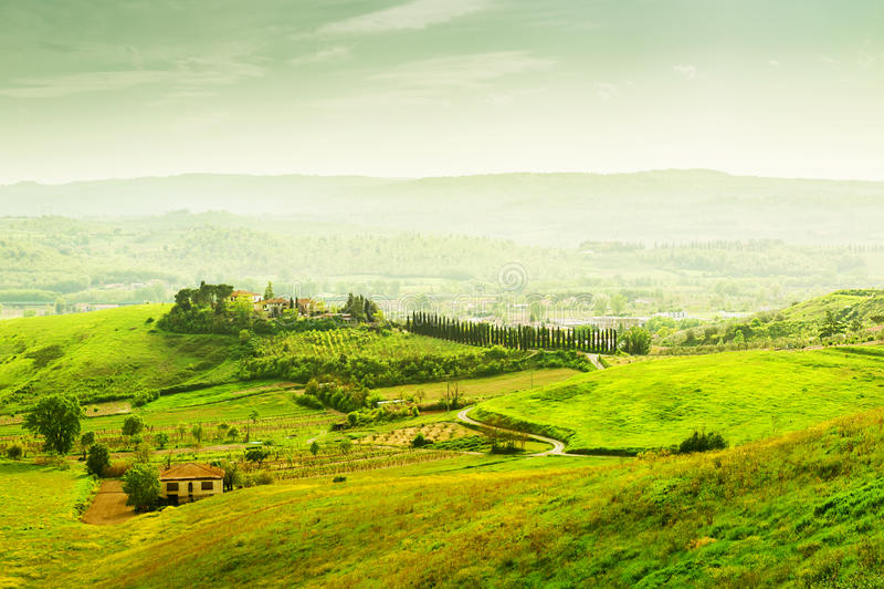 Härligt Tuscany landskap fotografering för bildbyråer