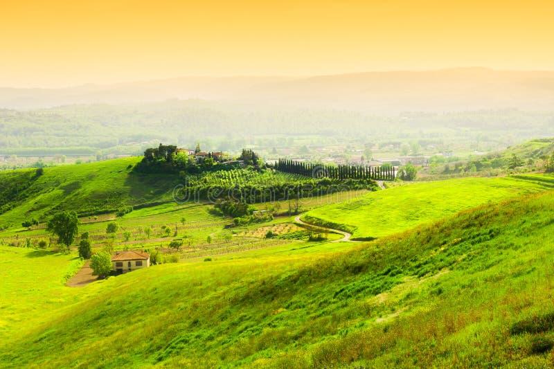 Härligt Tuscany landskap, Italien arkivbild
