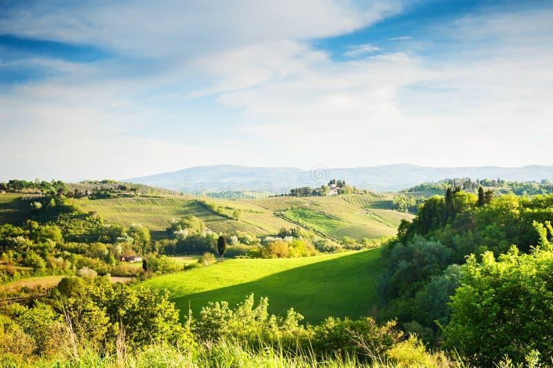 Härligt Tuscany landskap, Italien fotografering för bildbyråer