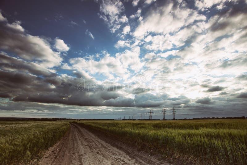 Härligt ukrainskt landskap fotografering för bildbyråer