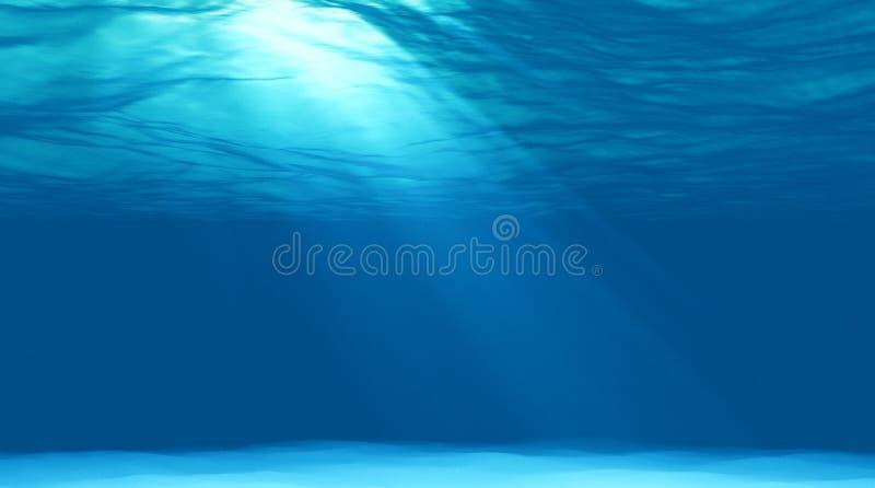 Härligt undervattens- platsljus fotografering för bildbyråer