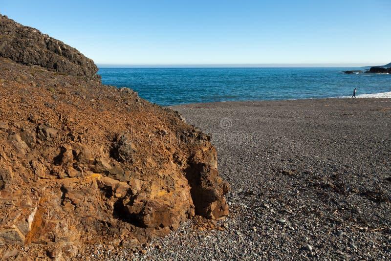 Härligt vårhavslandskap av Island royaltyfria bilder