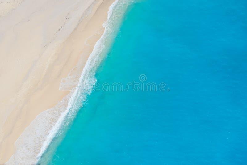 Härligt vatten av den Zakinthos ön arkivbilder