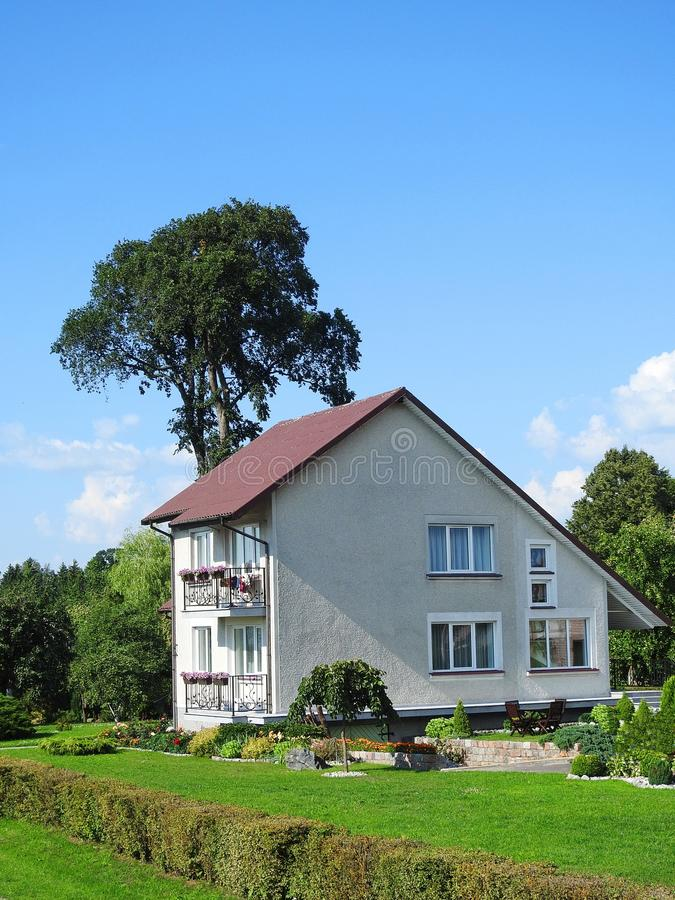Härligt vithem och växter, Litauen royaltyfri bild
