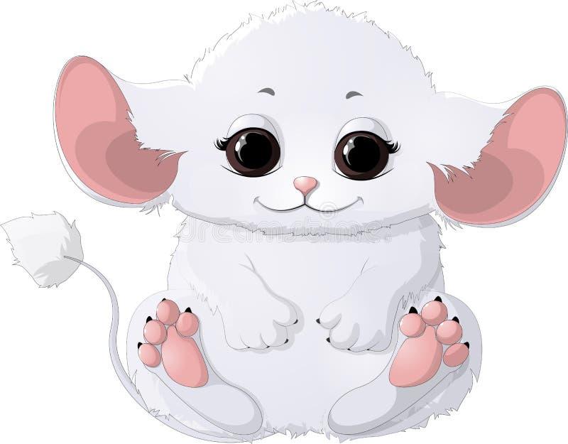 Härligt vitt djur vektor illustrationer