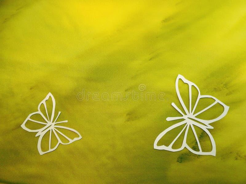 Härligt vitt fjärilssnitt från papper arkivfoton