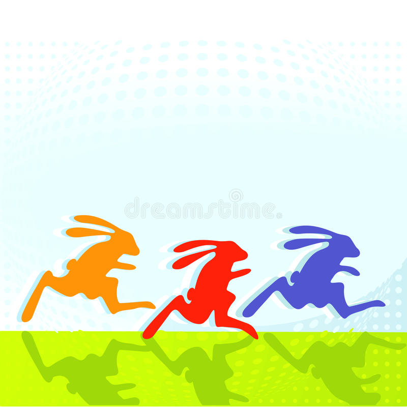 Häschen footrace stock abbildung
