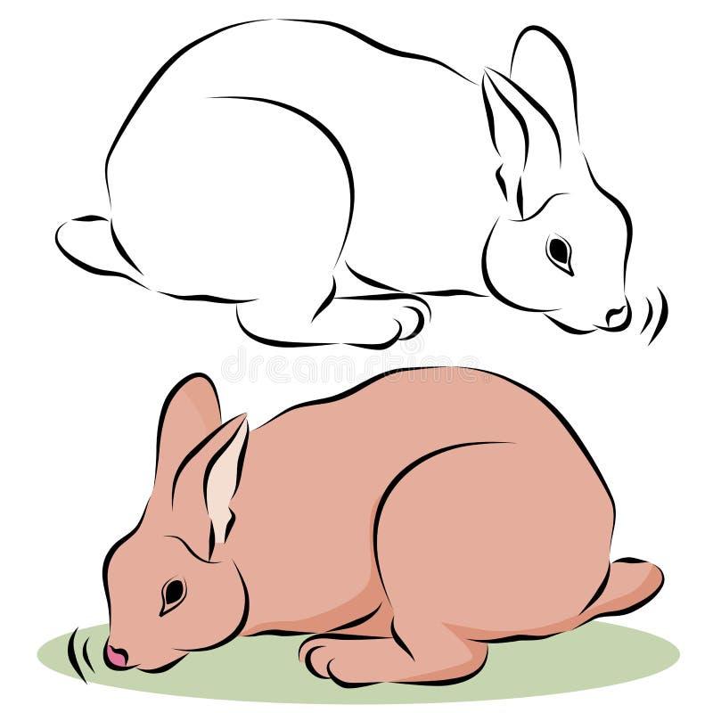 Häschen-Kaninchen-Schnüffeln vektor abbildung