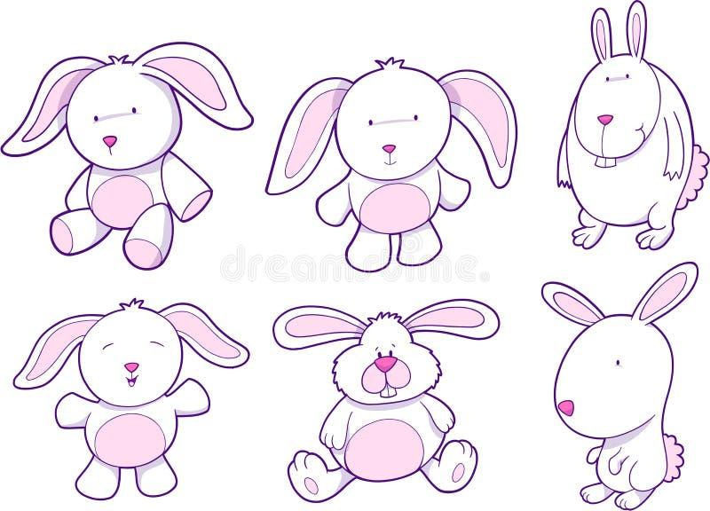 Häschen-Kaninchen-Set stock abbildung