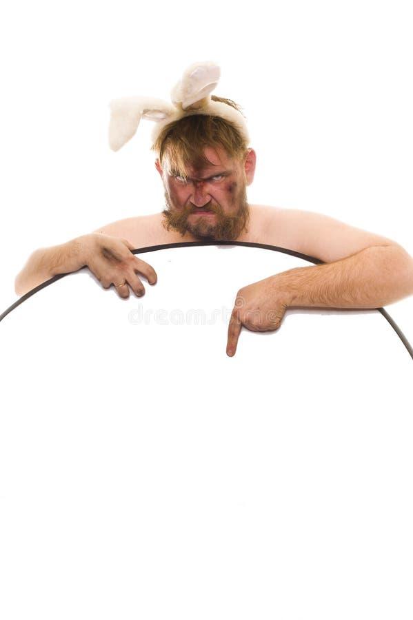 Häschen-Mann! stockfoto