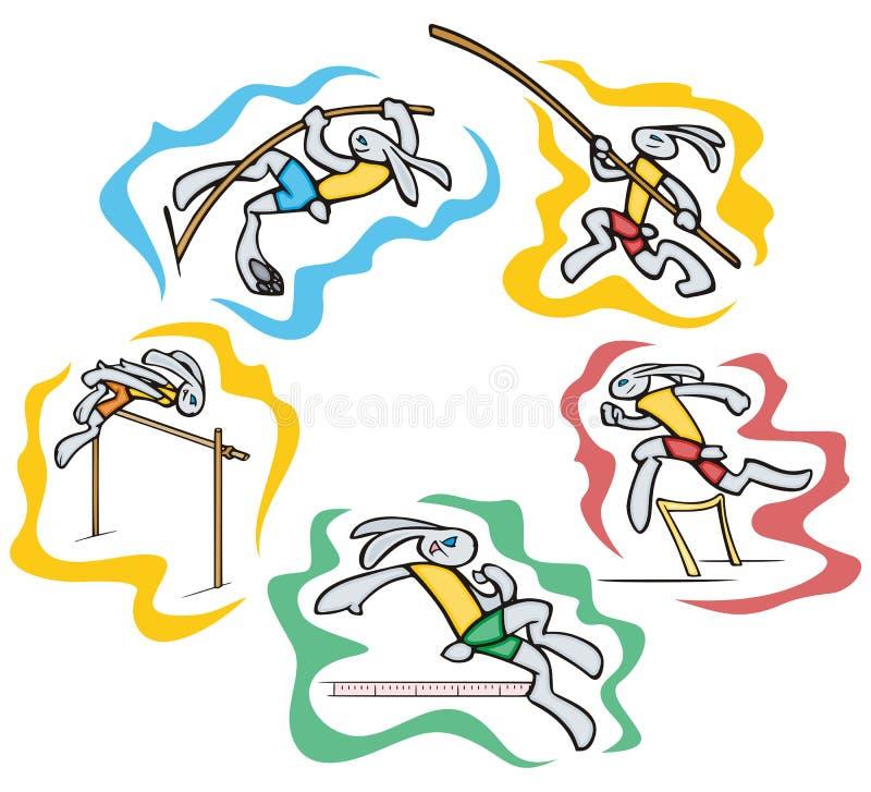 Häschensportabbildungen stock abbildung