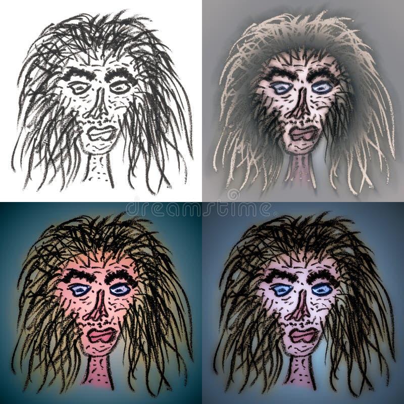 Hässliche Kuchen yaga Gesichter stockfotografie