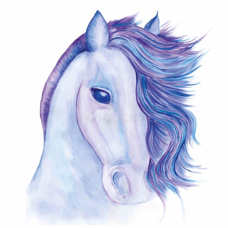 Häst dragen vattenfärg vektor illustrationer