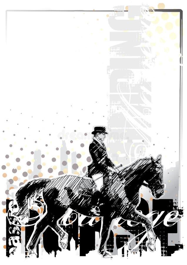 häst för 3 bakgrund royaltyfri illustrationer
