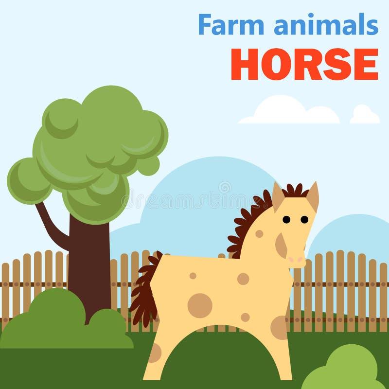 Häst för lantgårddjur royaltyfri illustrationer