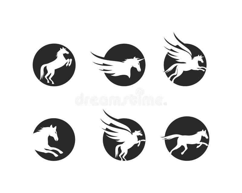 Häst Logo Template royaltyfri illustrationer