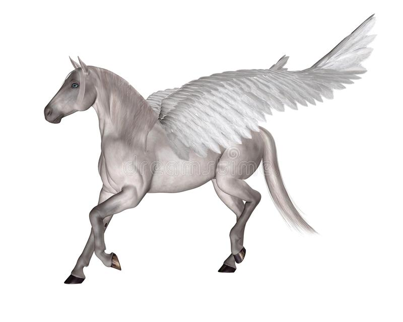 häst påskyndade pegasus stock illustrationer